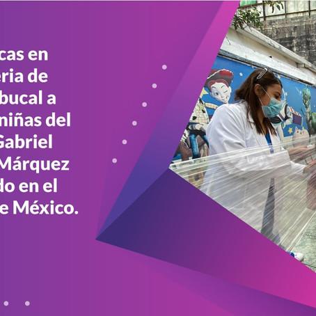 Pláticas de salud bucal a niños/as del C.E. Gabriel Márquez en el Edo. de México.