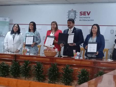 Firma del convenio CEPIDI: Programa Cepillado Diario Escolar en Xalapa, Veracruz.
