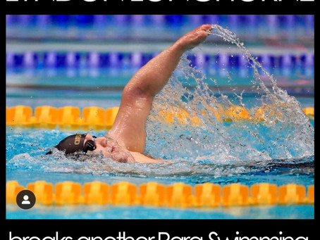 Lyndon SMASHES yet 'another' Para-Swimming Record