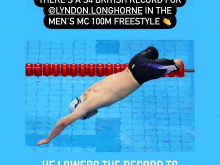 LYNDON LONGHORNE secures S4 British Record in the men's MC 100m Freestyle