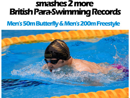 Congratulations to the legend that is Lyndon Longhorne for breaking 2 further Para-Swimming Records