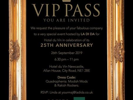 Hotel du Vin 25th Anniversary party