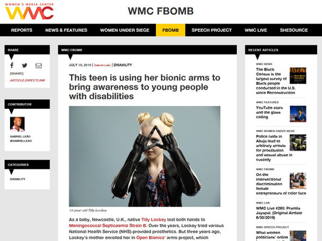 Tilly featured in US Women's Media Centre article