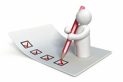 Checklist for rebuilt inspection forms