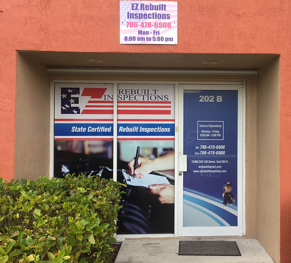 Come on in! We're happy to help with your rebuilt inspection.