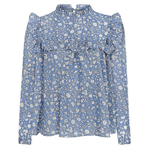 FREA Olivia Mavi Çiçekli Bluz
