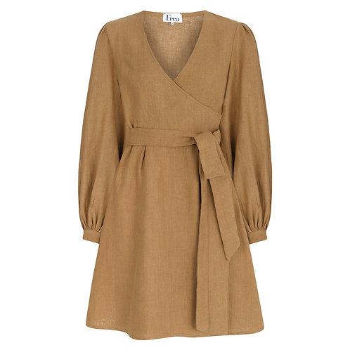 FREA Marcelia Açık Kahverengi Elbise