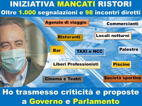 MANCATI RISTORI - L'INTERLOCUZIONE CON GOVERNO E PARLAMENTO