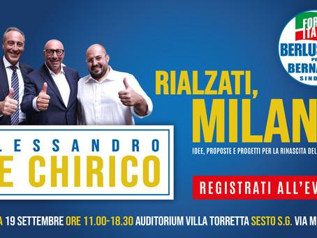 Idee, proposte e progetti per la rinascita di Milano domenica 19 settembre a Villa Torretta
