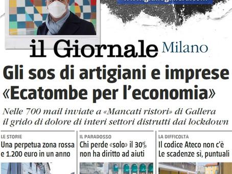 """MANCATI RISTORI, GLI SOS DI ARTIGIANI E IMPRESE. """"Un'ecatombe per l'economia"""""""
