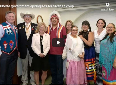 Alberta Government apologizes for the Sixties Scoop