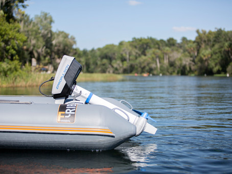 Spirit 1.0 is an electric outboard, not a trolling motor.