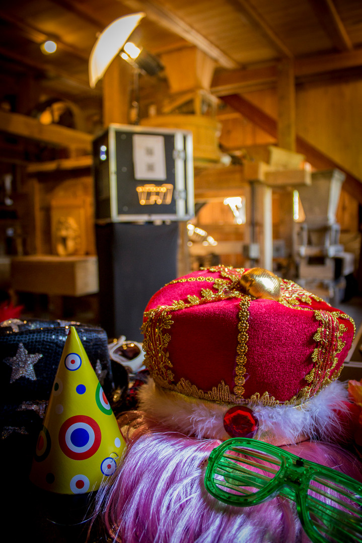 Fotobox in historischer Mühle