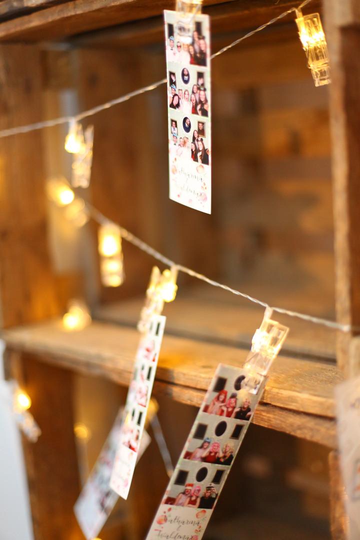 Lichterkette mit Fotostrips