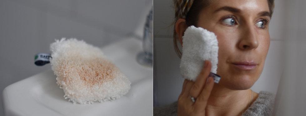 Ansikt rengörings handske med tvål