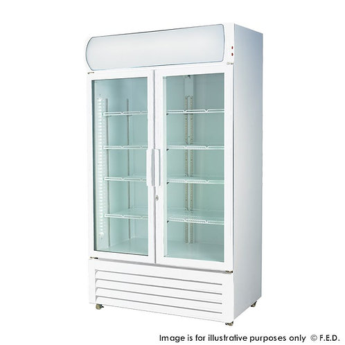 Large Two glass door colourbond upright drink fridge LG-1200GE