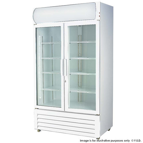 Double glass door colourbond upright drink fridge LG-580GE