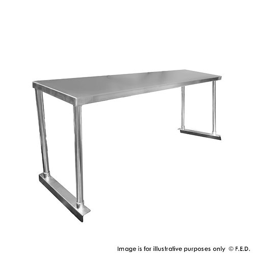 Single Tier Workbench Flat Feet Overshelf 450mm High