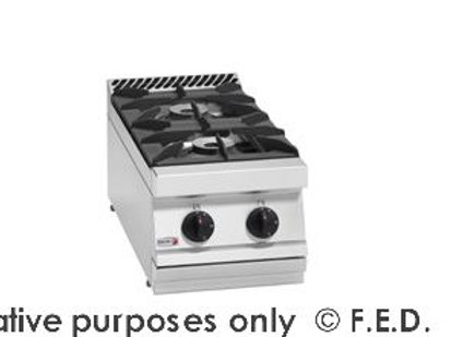 Fagor 700 series natural gas 2 burner boiling top with cast