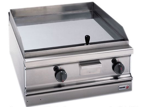Fagor 700 series natural gas chrome 2 zone fry top with thermostatic control
