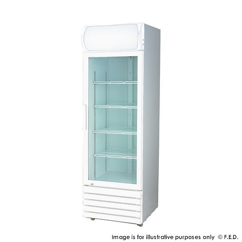 Large single glass door colourbond upright drink fridge LG-540GE