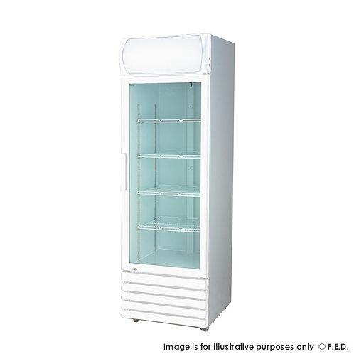 Single glass door colourbond upright drink fridge LG-370GE