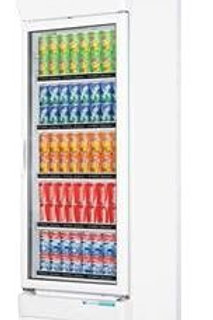 Single glass door colourbond upright drink fridge LG-320GE
