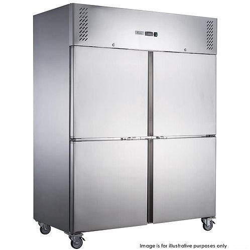 S/S 4 Door Upright Freezer Right Angled