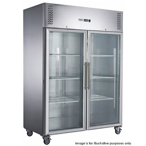 S/S 2 Full Glass Door Upright