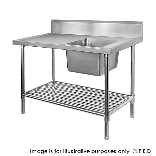 Premium Stainless Steel Single Sink Bench 700mm Deep