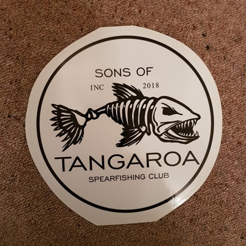 SoT Big Round Sticker B&W