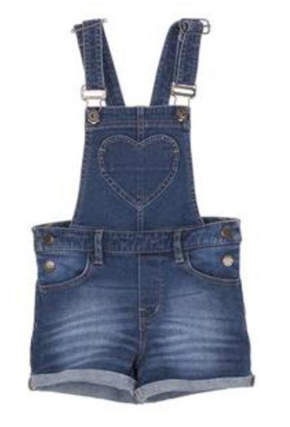lowest price 982d4 07c6e Jeans Overall Mädchen kurz (2 Denim Farben)