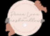 Peace love and marshmallows Logo, Handmade, bespoke stationery. Wedding and event stationery.