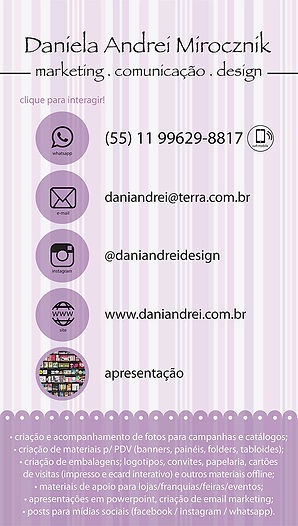 cartao de visitas digital DANIELA ANDREI
