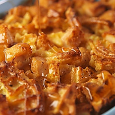Chicken & Waffle Casserole