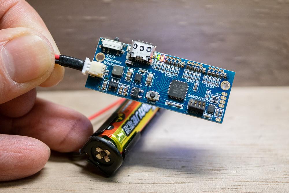電池駆動のテスト