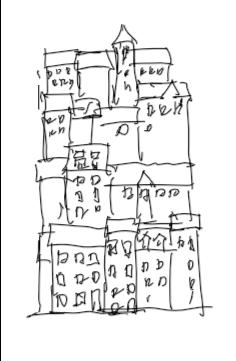 縦積みに見える街