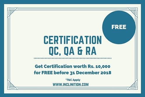 Certification in QC-QA-RA
