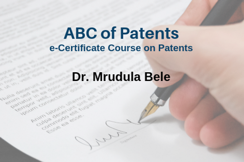 ABC of Patents: e-Certificate Course on Patents