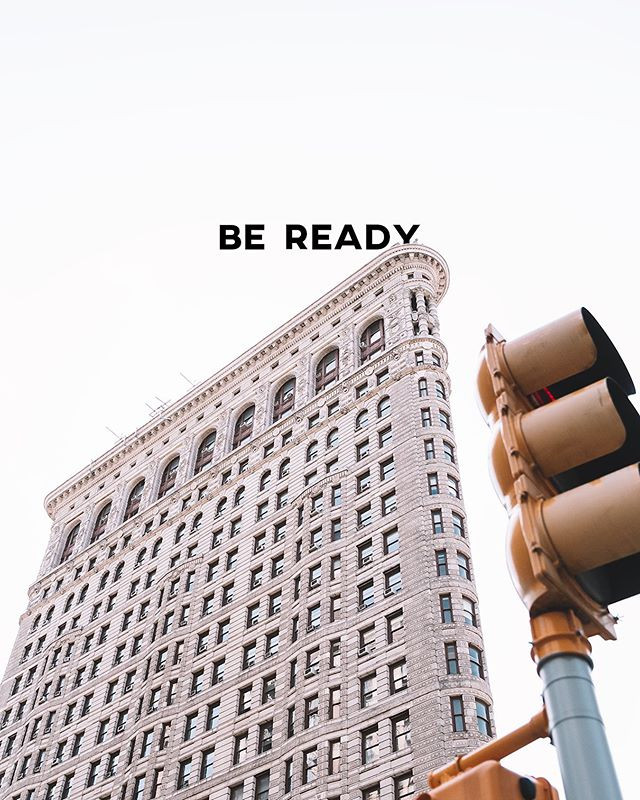 Be ready, you never know when the next o