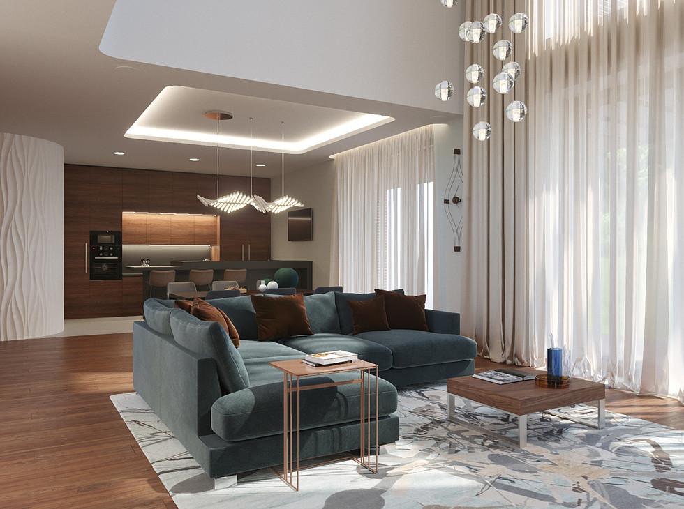Гостиная дом в стиле минимализм_Camera00
