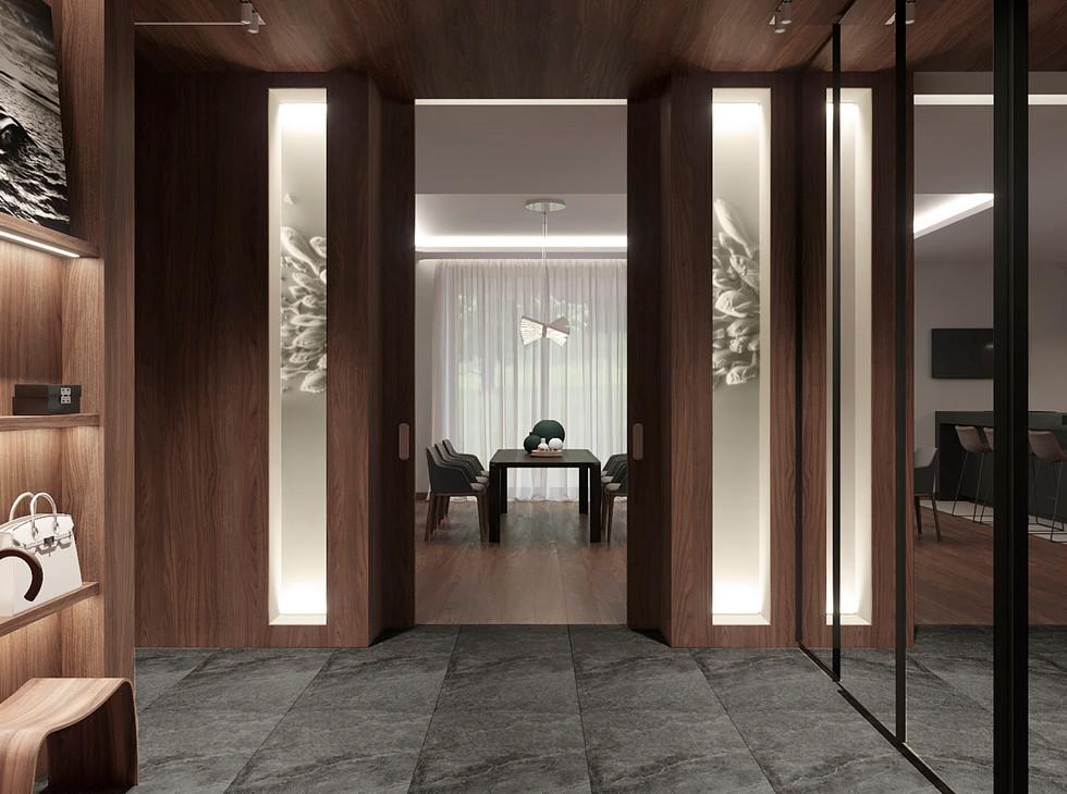 Гостиная дом в стиле минимализм03_Camera