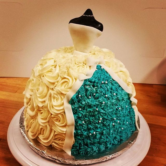 Bridal shower dress cake