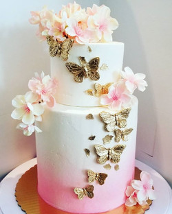 One of my favorite baby shower cakes of