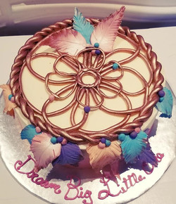 Dreamcatcher baby shower cake