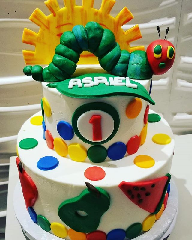 _Very Hungry Caterpillar_ cake