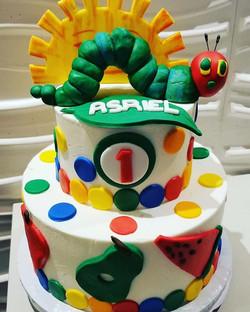 _Very Hungry Caterpillar_ cake