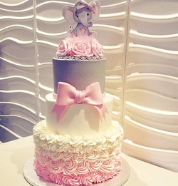 Baby shower cake, all buttercream with a