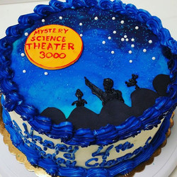 Mistery Science Theater 3000 birthday cake
