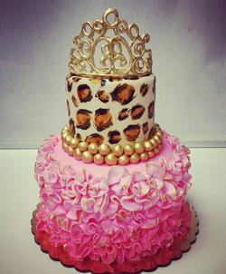 Princess cake with a fierce edge